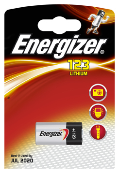 CR123-EL123AP 3 VOLT ENERGIZER CAMERA BATTERY