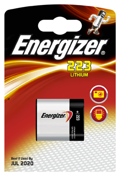 EL223- CR223-CRP2P-6 VOLT ENERGIZER CAMERA BATTERY