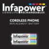 INFAPOWER 59H AAA CORDLESS PHONE BATTERY mAh Ni-MH Pack of 2