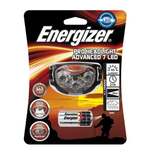 ENERGIZER PRO ADVANCED HEADLIGHT 7 LED 3AAA