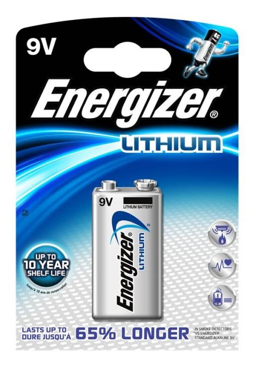 9V-PP3-6LR61-L522 ENERGIZER LITHIUM BATTERY