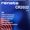 RENATA CR2032 LITHIUM COIN BATTERY (Box of 10)