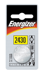 ENERGIZER CR2430 LITHIUM COIN BATTERY (Pack of 2)