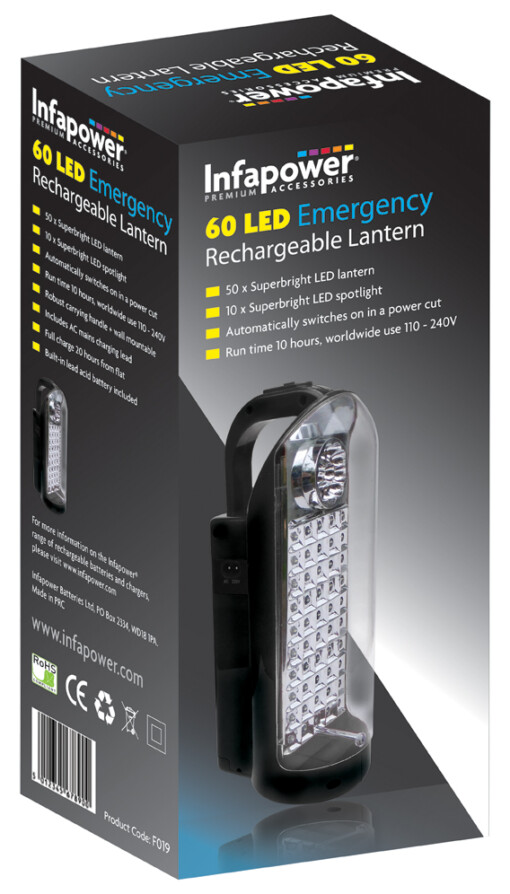 INFAPOWER RECHARGEABLE 60 LED EMERGENCY LANTERN