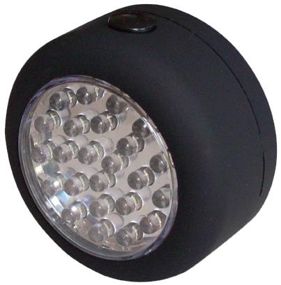 INFAPOWER MAGNETIC 24 LED ROUND INC BATT