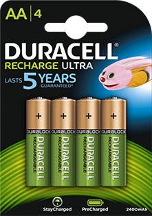 DURACELL AAB4 2400mAh RECHARGE ULTRA