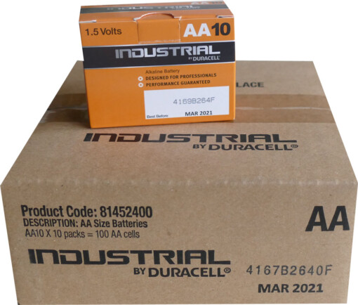 AA-LR6-MN1500 DURACELL INDUSTRIAL BATTERIES (100)