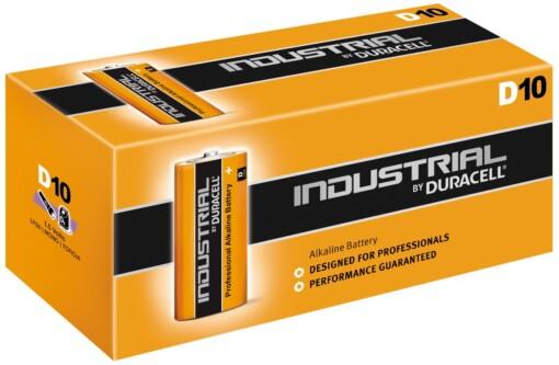 D-LR20-MN1300 DURACELL INDUSTRIAL BATTERIES (10)