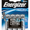 AA- L91 ENERGIZER ULTIMATE LITHIUM BATTERIES pack of 4