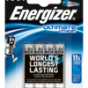 AAA-L92-FR03 ENERGIZER ULTIMATE LITHIUM BATTERIES pack of 4