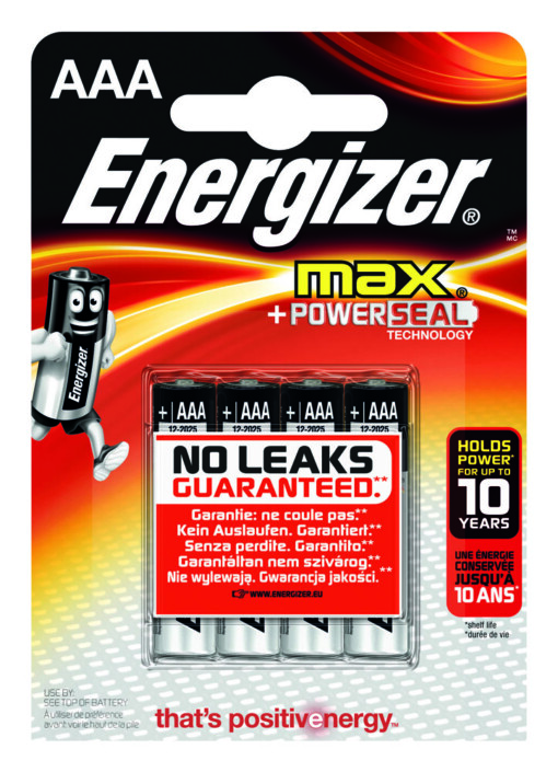 AAA-LR03-MN2400-ENERGIZER MAX (Pack of 4)