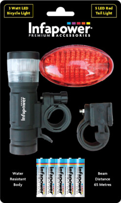 INFAPOWER BIKE LIGHT SET
