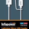Lightning / Micro USB Combo to USB cable