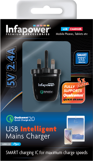USB Intelligent Mains Qualcomm Quick Charger 5v 2.4A