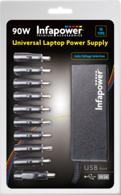 Universal Laptop Power Supply 90W with USB port