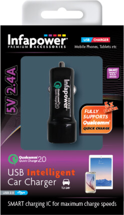 USB Intelligent Car Qualcomm Quick Charger 5v 2.4A