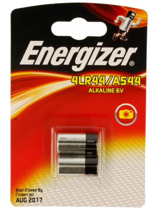A544, 4LR44,  6 VOLT ENERGIZER CAMERA BATT TWIN PK