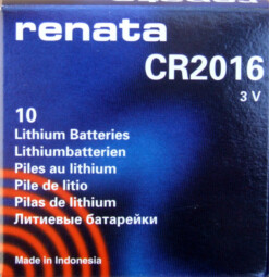 RENATA CR2016 LITHIUM COIN BATTERY (Box of 10)