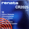 RENATA CR2025 LITHIUM COIN BATTERY (Box of 10)