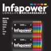 C-HR14-2500mAh INFAPOWER Ni-MH RECHARGEABLE BATTERIES pack of 2