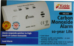 CARBON MONOXIDE ALARM WITH 10 YEAR BATTERY LIFE (Code:10LLCO)