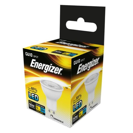 DIMMABLE GU10 5.5W ENERGIZER LED  350LM 36° Cool WHITE BOXED S8827