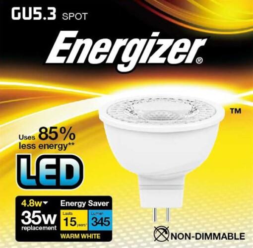ENERGIZER LED MR16 GU5.3 4.8W 350LM 36°
