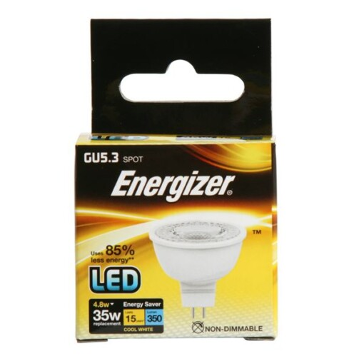 Cool White ENERGIZER LED MR16 GU5.3 4.8W 350LM 36°