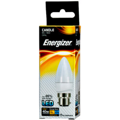 5.9w (40w) BC B22 Frosted Candle Energizer 470 lumens