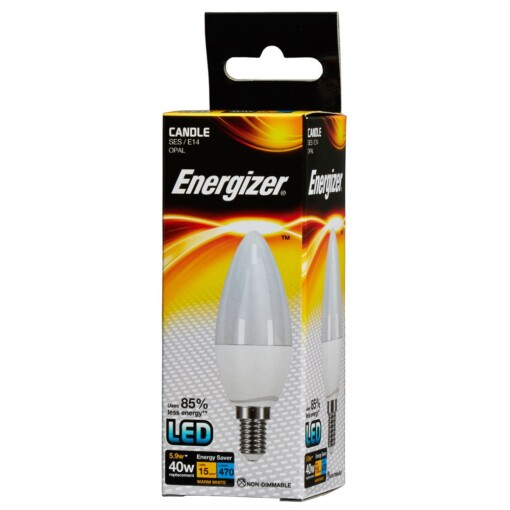 5.9w (40w) E14 SES Frosted Candle Energizer 470 lumens