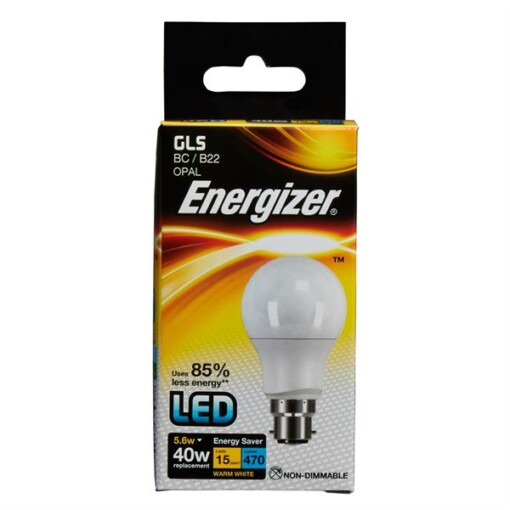 5.6W (40W) Warm White GLS BC LED Lamp Energizer S8857 470LM