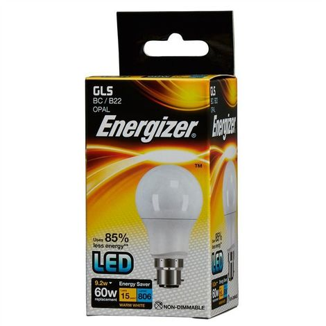 Energizer S8862 806LM 9.2W Warm White GLS B22 LED Lamp