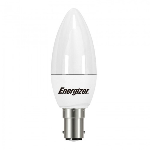 5.9w (40w) SBC B15d Frosted Candle Energizer 470 lumens