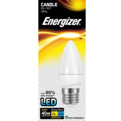 5.9w (40w) E27 Frosted Candle Energizer 470 lumens