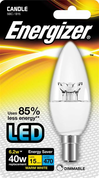 DIMMABLE 6.5W  SBC B15d LED CANDLE