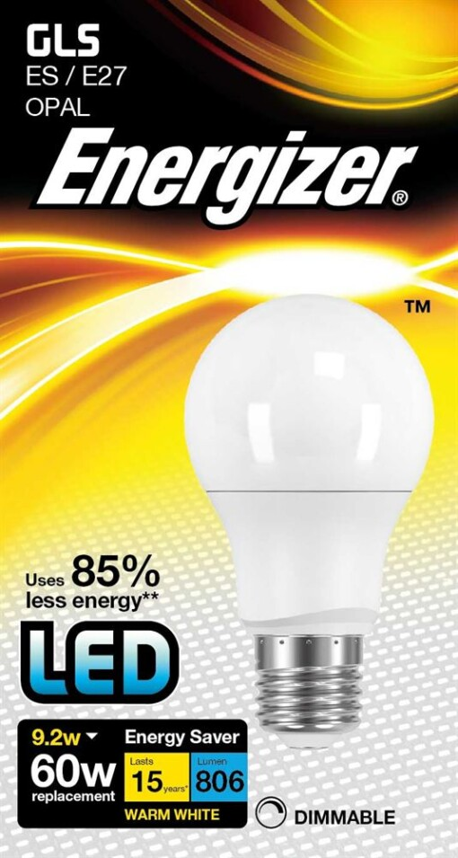 Dimmable 9.2W GLS E27