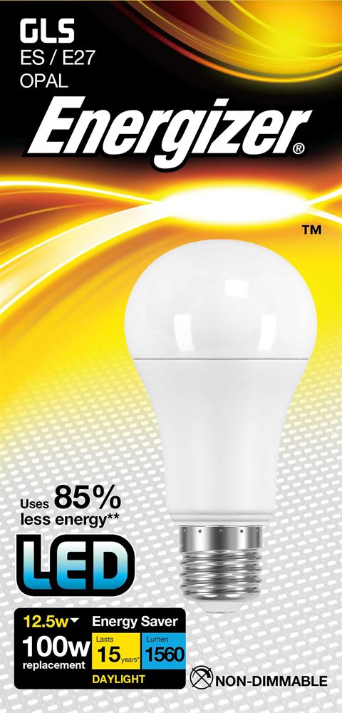 Energizer S8707 LM 12.5W warm White GLS ES LED Lamp